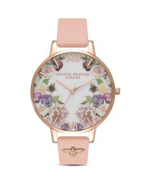 Olivia Burton Enchanted Garden Floral Watch, 38mm