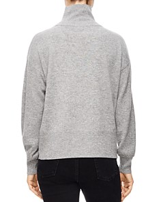 Sandro - Tom Lace-Up Turtleneck Sweater