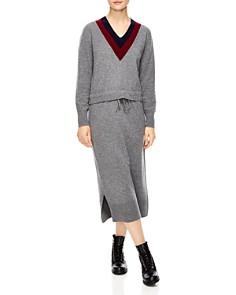 Sandro - Bruyère Stripe Sweater Dress