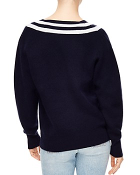 Sandro - Platine Varsity-Stripe Sweater