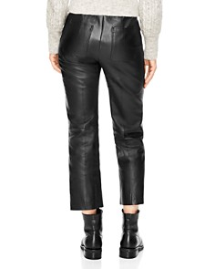 Sandro - Poésie Leather Crop Pants