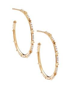 Kendra Scott - Cybil Diamond Hoop Earrings in 14K Yellow Gold