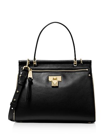 523ed4ca2a94 MICHAEL Michael Kors Jasmine Medium Leather Satchel | Bloomingdale's