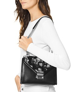 MICHAEL Michael Kors - Whitney Floral Beaded Convertible Shoulder Bag