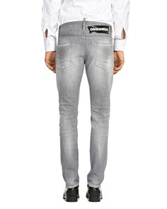 DSQUARED2 - Distressed Cool Guy Slim Fit Jeans in Light Gray
