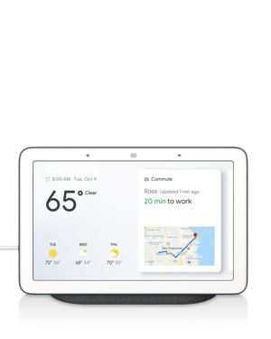 GOOGLE Home Hub Touch-Screen Speaker in Anthracite Black