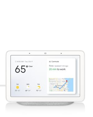 GOOGLE Home Hub Touch-Screen Speaker in Rock Candy White