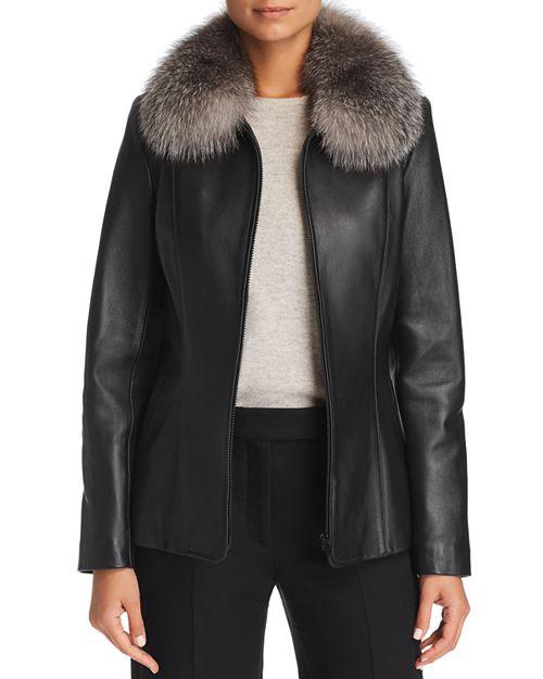 Maximilian Furs - Fox Fur-Collar Leather Jacket - 100% Exclusive