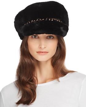 Eugenia Kim - Marina Faux Fur Newsboy Cap