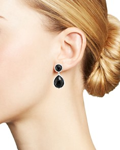 IPPOLITA - Sterling Silver & Black Onyx Rock Candy Drop Earrings