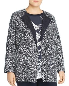 7c69c3f753 Marina Rinaldi - Fantasia Splatter-Tweed Open Jacket ...
