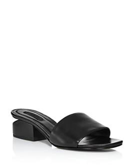 Alexander Wang - Women's Lou Leather Slides