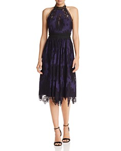 Laundry by Shelli Segal - Embroidered Lace Dress
