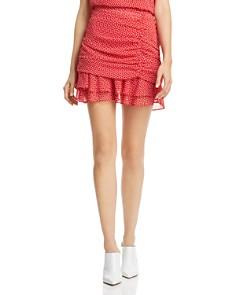 AQUA - Ruched Heart Print Skirt - 100% Exclusive