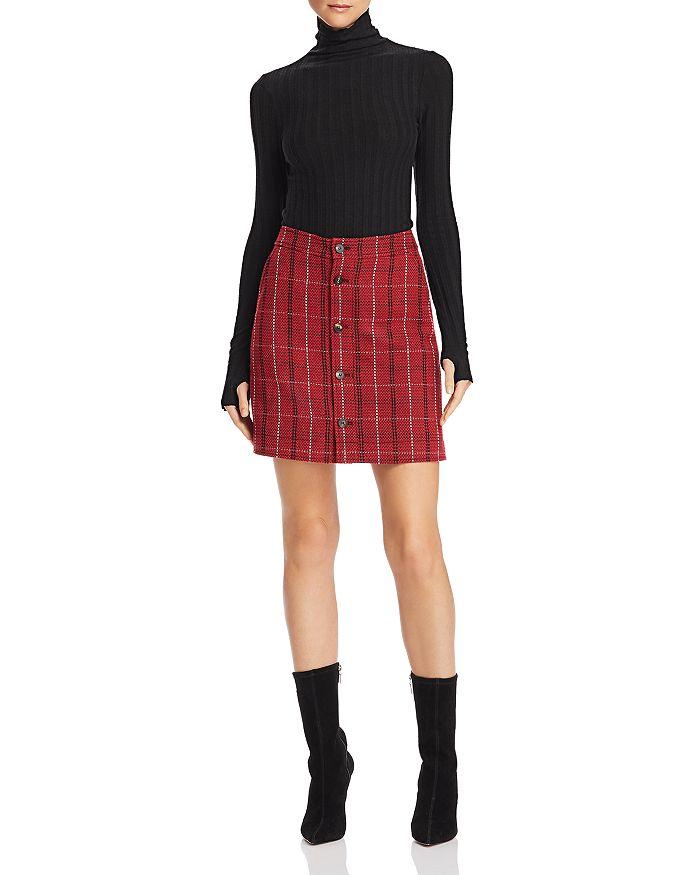 cf85036dfe Alexander McQueen Varsity Plaid Mini Skirt | Bloomingdale's