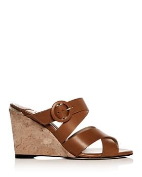 Jimmy Choo - Women's Delila 85 Crisscross Wedge Slide Sandals
