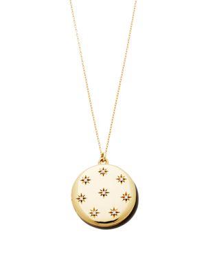 SASHA SAMUEL 14K Yellow Gold Plate Adriane Locket Necklace With Cubic Zirconia, 20