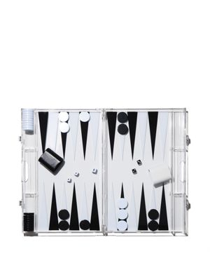 AUROSI Backgammon Game Set in Black/Clear