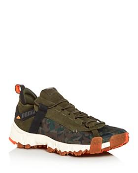 PUMA - Men's Trailfox Camo & Suede Low-Top Sneakers