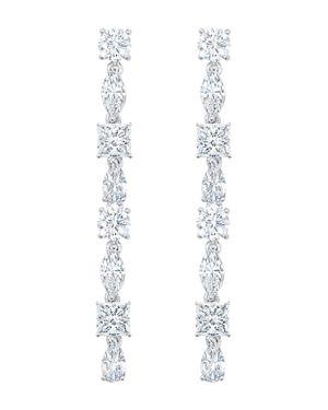 CRISLU Celebration Drop Earrings In Platinum-Plated Sterling Silver