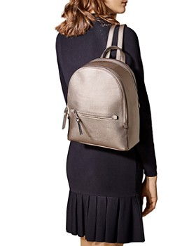 KAREN MILLEN - Faux-Snakeskin Backpack