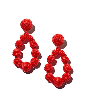 Sachin & Babi SACHIN AND BABI SILK GEORGETTE TEARDROP CLIP-ON DROP EARRINGS