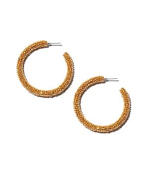 Sachin and Babi Silk Georgette Hoop Earrings
