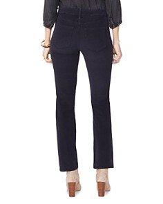 NYDJ - Marilyn Straight Corduroy Jeans in Black