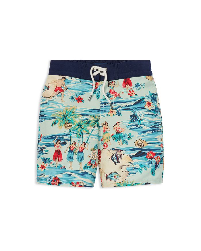 13fcdcf210303 Ralph Lauren Boys' Sanibel Luau Swim Trunks - Little Kid ...
