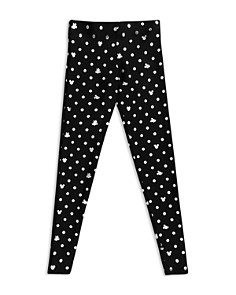 Terez - Girls' Disney x Terez Mickey Mouse & Minnie Mouse Polka Dot Foil Leggings - Little Kid, Big Kid