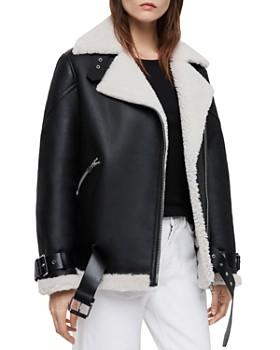 ALLSAINTS - Hawley Shearling Biker Jacket