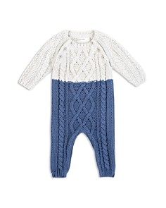 Miles Baby - Boys' Cable-Knit Sweater Playsuit - Baby