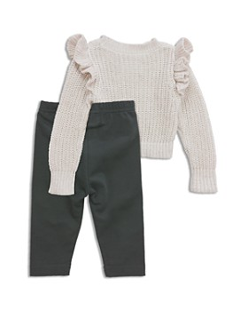 Sovereign Code - Girls' Ruffled Knit Sweater & Leggings Set - Baby