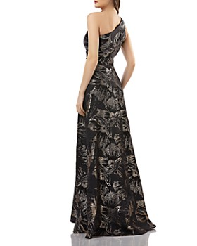 Carmen Marc Valvo Infusion - One-Shoulder Brocade Gown