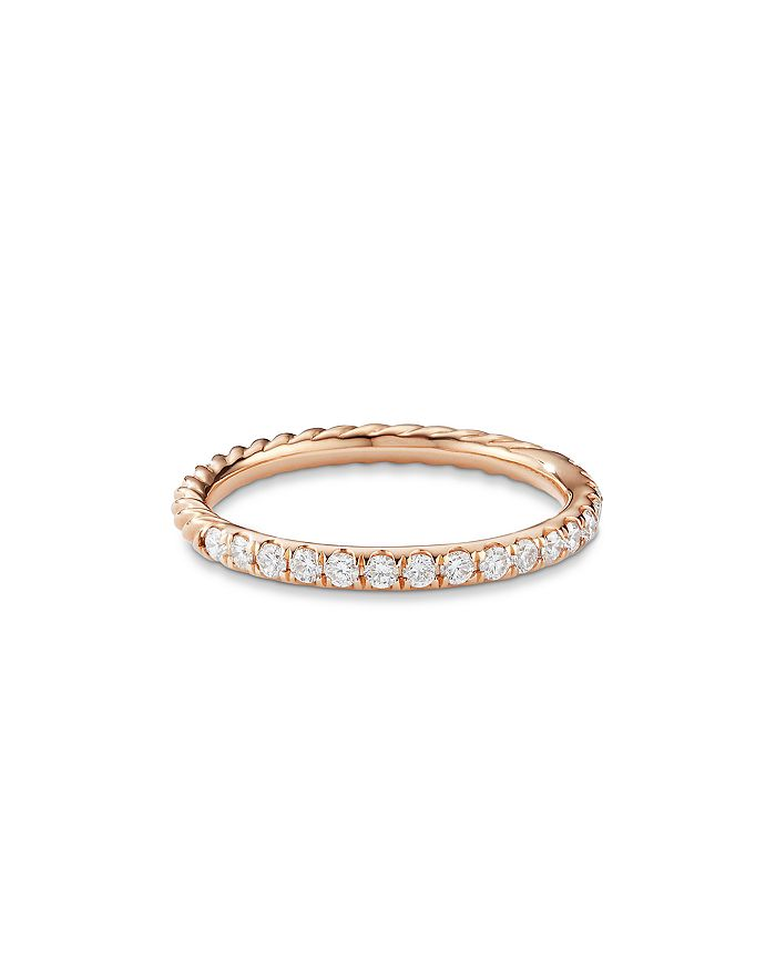 David Yurman - 18K Gold Cable Collectibles Ring with Diamonds