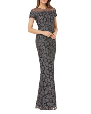 Js Collections Illusion Lace Gown