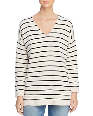 Eileen Fisher Striped Organic-Cotton Tunic Sweater