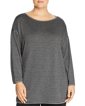 Eileen Fisher Plus - Striped Tunic Top
