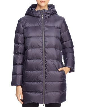 Eileen Fisher Hooded Down Puffer Coat
