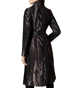 KAREN MILLEN - Leopard Print Faux Fur Wrap Coat