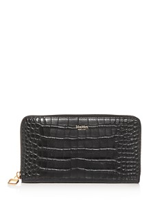 Max Mara - Croc-Embossed Leather Continental Wallet