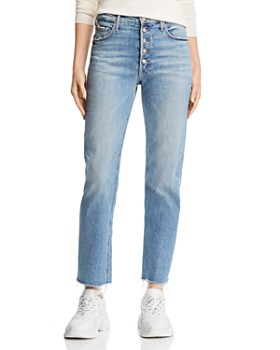 MOTHER - Pixie Dazzler Ankle Fray Straight-Leg Jeans in Secret Sister