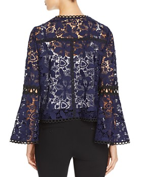 Elie Tahari - Atiya Bell-Sleeve Lace Jacket