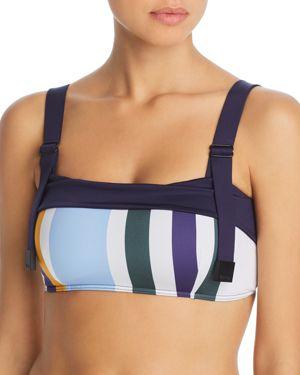 MEI L'ANGE Lynn Utility Bikini Top in Multi Stripe