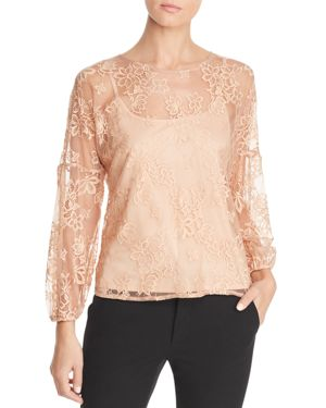STATUS BY CHENAULT Status By Chenault Lace Blouse in Ginger