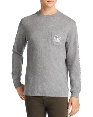 Vineyard Vines Pro Hockey Logo Long-Sleeve Pocket Tee