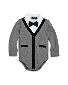 Bardot Junior - Boys' Cardigan Bow-Tie Bodysuit - Baby