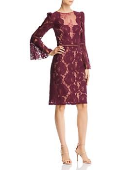 1819b634702 Tadashi Shoji - Bell-Sleeve Lace Dress ...