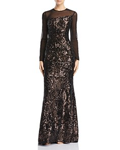 Avery G - Sequined Illusion Gown