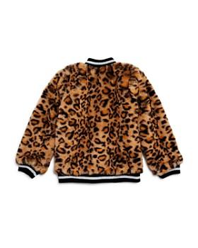 Mini Series - Girls' Faux-Fur Leopard-Print Bomber Jacket, Little Kid - 100% Exclusive